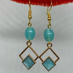 Jewelry - Blue and gold earrings